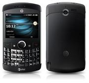 Later versions of the iPAQ looked more like what we now think of as a smartphone. Specifically, they looked like Blackberry, with a physical keyboard built in to the body of the phone. The HP Glisten, released in 2009, was HP's last phone on the Windows mobile platform.