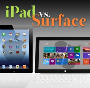iPad vs. Surface cover slide