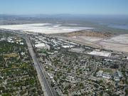 An aerial view of Menlo Park, as seen from the zeppelin.