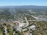 An aerial view of Mountain View, as seen from the zeppelin.
