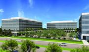 Foundation work for three of six office buildings at the 41-acre Santa Clara Gateway campus is getting started this month. Construction of the first three buildings is slated for completion by mid-2013.