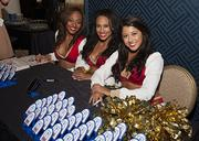 Santa Clara 49ers cheerleaders were on hand to cheer on all the finalists during the networking hour at the Structures Awards.