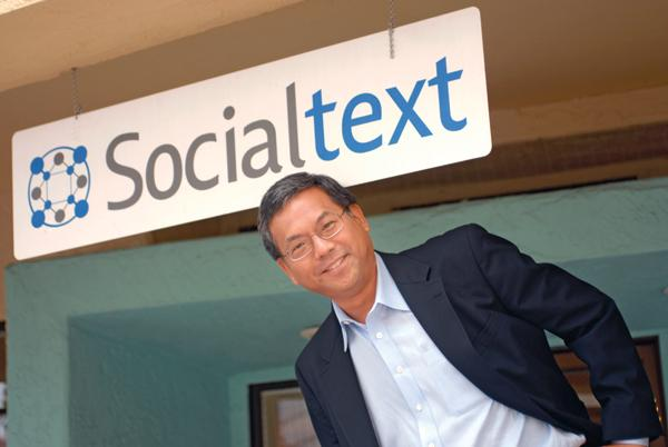 Socialtext CEO Eugene Lee will now report to Peoplefluent CEO Charles Jones after the Palo Alto company became a subsidiary to the North Carolina company following an investment by private equity firm Bedford Funding.