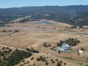 A view of the Stanford Dish from the zeppelin.