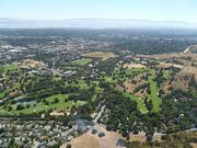 An aerial view of Stanford's golf course.