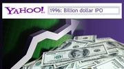 After closing two rapid rounds of VC funding in 1995 Yahoo, which has evolved into a search engine and Web portal site, has an IPO in April 1996. The stock jumps from $24 to $43 per share in the first hour of trading, giving the young company a $1 billion IPO.
