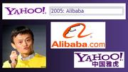 In 2005, Yahoo co-founder Jerry Yang's close relationship to Chinese entrepreneur Jack Ma leads to a sweetheart deal for the Sunnyvale web company. Yahoo is able to purchase a 40 percent stake in Ma's company, Alibaba, in exchange for $1 billion and cash and control of Yahoo China. Alibaba is now one of Asia's largest websites, and Yahoo's stake in the Chinese company is thought to account for as much as 50 percent of Yahoo's value.