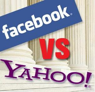 Facebook vs. Yahoo litigation illustration