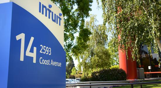 Intuit Inc.'s stock price dropped as much as 13 percent Thursday morning after lowering its guidance for the third quarter Wednesday.
