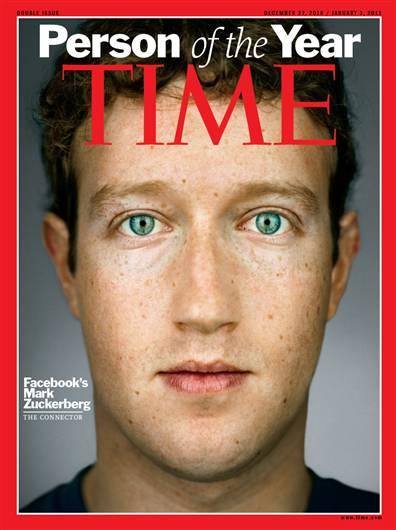 """Facebook CEO Mark Zuckerberg is Time magazine's """"Person of the Year."""""""