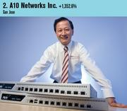 A10 Networks was the second fastest-growing private company on this year's list. Shown is CEO Lee Chen.