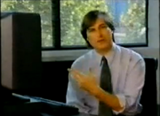 1992- NeXTSTEP  After being fired from Apple in 1985, Steve Jobs founded NeXT Computer to develop a high-end desktop computer aimed at the science and education markets. In this video from around 1992, he demonstrates the NeXTSTEP operating system. NeXTSTEP was very advanced for its time, featuring such innovations as an object-oriented application layer that wouldn't be standard in other OSes until a decade later. If NeXTSTEP looks familiar, it's for good reason: it formed the core of OS X when Jobs came back to Apple in 1997.
