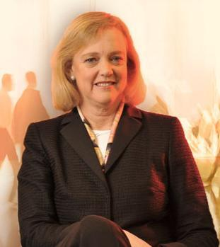 CEO Meg Whitman told analysts much work remains at HP, after posting a historic loss on Wednesday.