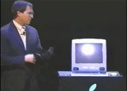"""1998 – The introduction of the iMac  Jobs introduced the iMac, his radical reinvention of Apple's consumer product line, in a keynote address at Macworld Expo in 1998. In the presentation, which echoes the unveiling of the original Macintosh in 1984, Jobs stresses the iMac's ease of use and it's radical new look. """"The back of our computer looks better than the front of anyone else's,"""" Jobs said."""