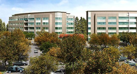 Synopsys' new campus will be two five-story buildings totaling 340,000 square feet.