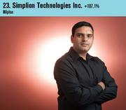 Simplion Technologies was the 23rd fastest-growing company on this year's list. Shown is CEO Dhiraj Sharma.