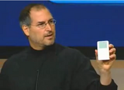 Watch video: 2001 – iPod Unveiling  The iMac might have been the beginning of Apple's new product strategy, but the beginning of its mobile strategy was the iPod. In this video, Jobs introduces the new device for the first time at an event in October 2001.