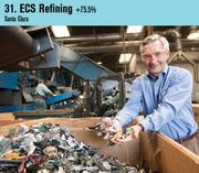 Electronics recycling company ECS Refining was the No. 31` company on this year's list. Shown is CEO Jim Taggert.