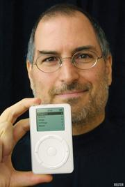 In 2001, Apple introduces the iPod. The beginning of Apple's line of mobile devices, the iPod is Apple's answer to digital music players, which Jobs finds to be poorly designed. The iPod is an instant hit, and the iTunes Music Store, which is released at the same time, becomes the largest legal source of digital music, with more than 70 percent market share.