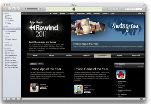 Apple named Instagram as its iPhone App of the Year for 2011.