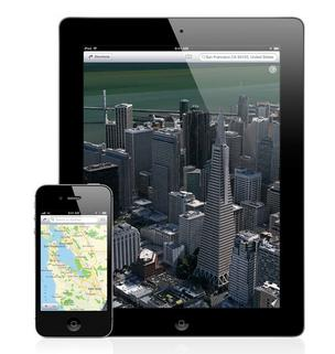 iPad and iPhone with Maps