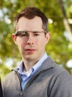 Google Ventures Managing Director Bill Maris announced a partnership Thursday to invest in the Google Glass that he wearing in this picture, the eye-level computing device.
