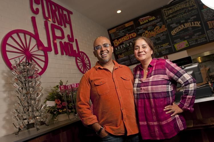 Akash and Rana Kapoor first gained a following serving  Indian fusion via a truck to the tech campuses of Silcon Valley. Now  they're growing a restaurant chain and opening a new San Mateo craft cocktail bar called Mortar & Pestle Bar.