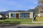 An exterior rendering of a 1,600-square-foot prefab home by Connect:Homes,  which starts at $280,000 including delivery and installation.