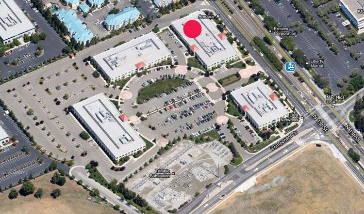 EBay picked up 50,000 square feet at 2515 North First St.(marked in red).