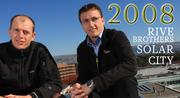 2008 was a pretty eventful year for our inaugural executives of the year, SolarCity's Rive brothers. But if anything, Peter and Lyndon Reeve are having an even bigger year in 2012, with the long awaited IPO of their company in December.