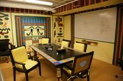 The Ancient Egypt room was the most involved theme room. DesignerJulie Engelbrecht said she spent more than three weeks painting it.