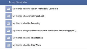 A sample of some of the searching you can do with Facebook's new Graph Search.