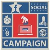 A new study by a Berkeley grad student and Columbia professor found that political advertising on Facebook doesn't work. The website U.S. Politics on Facebook, whose logo is shown here, is dedicated to discussions of how the social network is affecting campaigns.