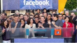 Facebook Nasdaq opening bell photo