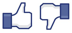 Facebook thumbs up and down