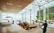 A rendering of the interior lobby of Signature's proposed facility.