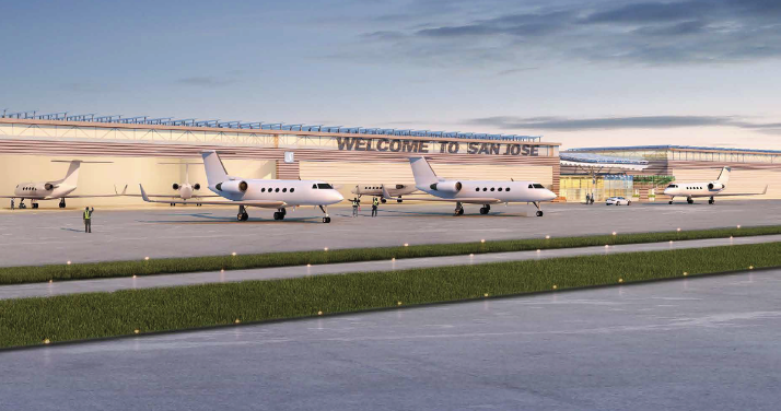 Gensler is designing the Signature Flight Support project at the San Jose airport.