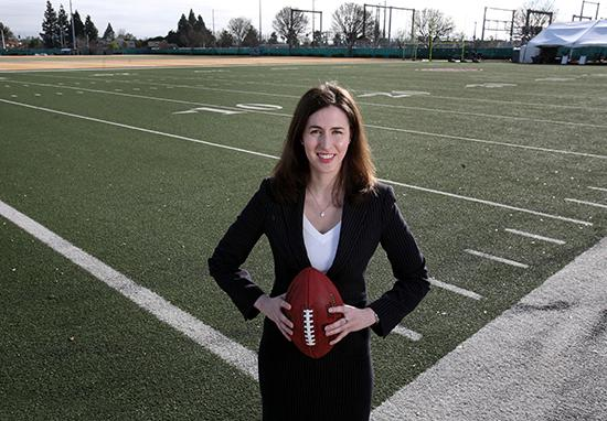 Hannah Gordon is director of legal affairs for the San Francisco 49ers and a finalist in the category of Rising Star.