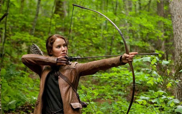 """Jennifer Lawrence in """"The Hunger Games."""" She won Best Actress at last night's Oscars for her performance in """"Silver Linings Playbook."""""""