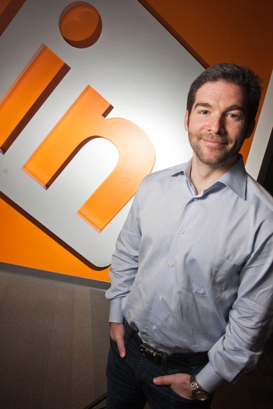 CEO Jeff Weiner's company, LinkedIn, had a great day on Wall Street.