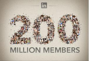 LinkedIn has more than 200 million members