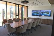 The board room in the new Packard Foundation headquarters features natural lighting to help cut down on electricity costs.