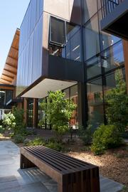 The offices in the Packard Foundation's new headquarters surround a naturally lit courtyard.