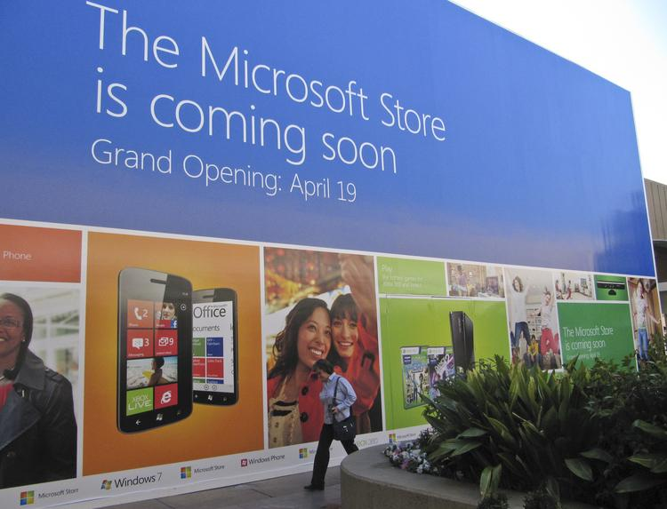 Microsoft plans to open its second retail store next to the Apple Store at Stanford Shopping Center.