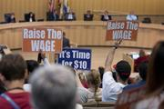The San Jose City Council resisted a push to immediately raise the minimum wage in the city to $10, putting the issue before voters in November instead.