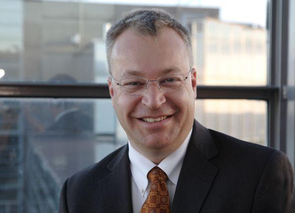 Stephen Elop says he can't reduce his $25 million payout because his wife is entitled to half of it because they are divorcing.