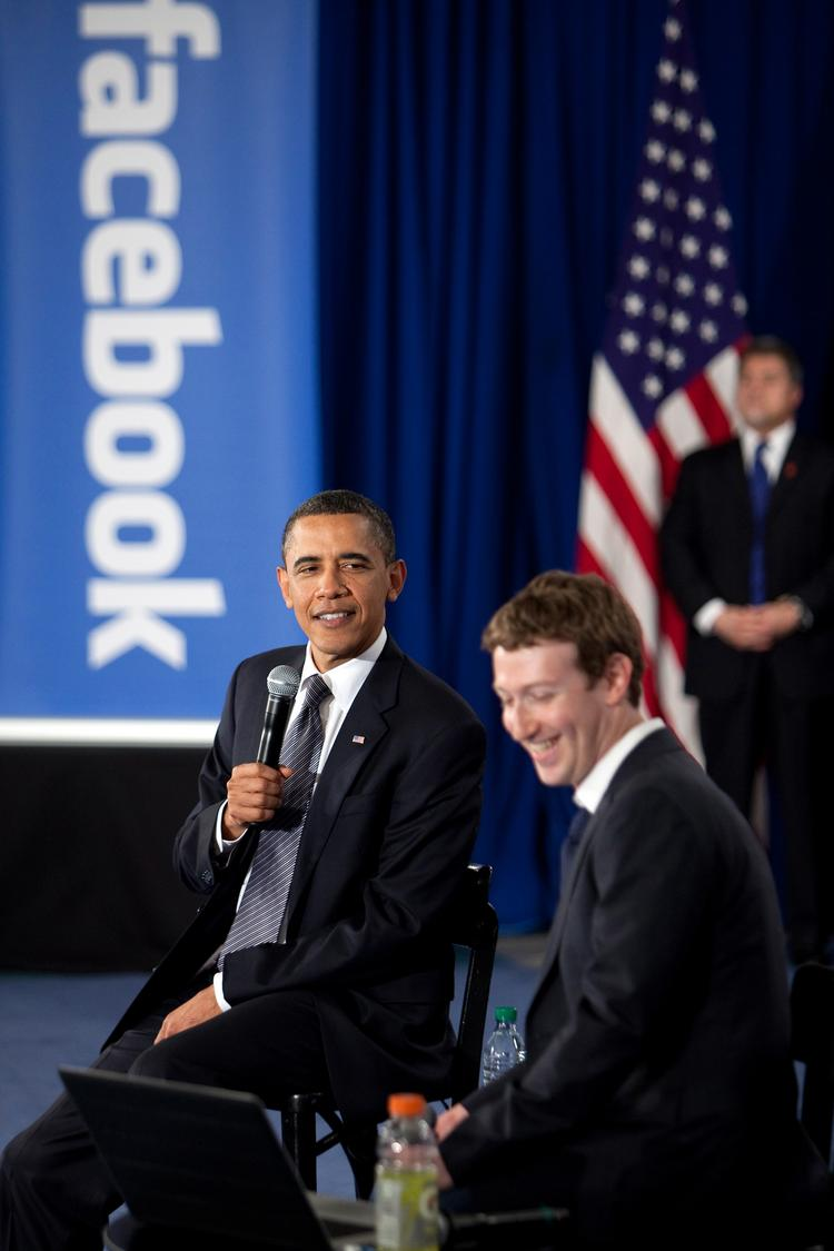 President Barack Obama is no stranger to the social media world, here at a town hall meeting hosted at Facebook by CEO Mark Zuckerberg.