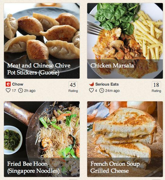 Punchfork allows users to check out  top-rated recipes from a variety of cooking sites, filter them by diet  restrictions and favorite ones they want to come back to later.