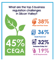 The top 5 regulatory challenges identified by CEOs surveyed.