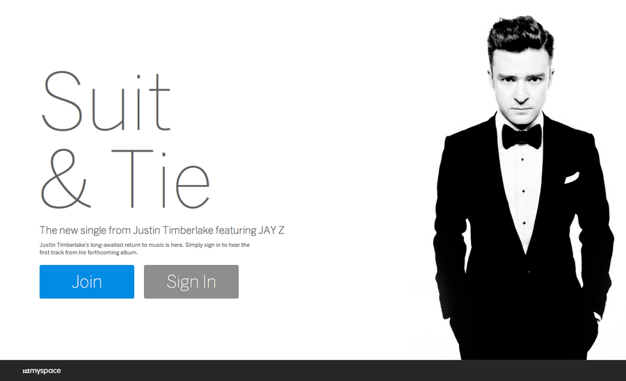 Justin Timberlake is bringing (sexy and/or Myspace) back